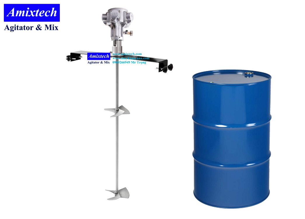 máy khuấy khí nén gá thùng phuy Amix-K04