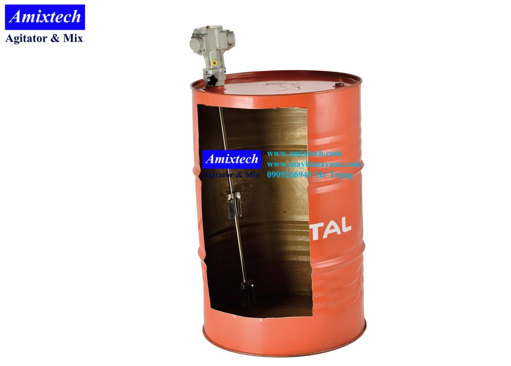 máy khuấy khí nén gắn nắp phuy Amix-K06